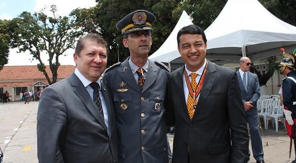 Jefferson Campos participa de homenagem da PM ao dep. estadual Pr. Carlos Cezar