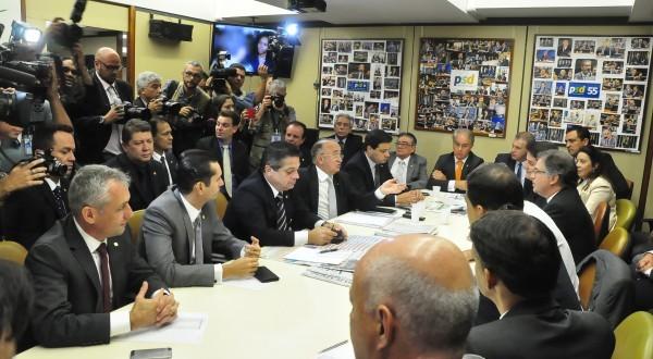 Reunião da Bancada do PSD para definir posição a favor do impeachment