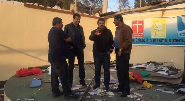 Dep. Jefferson Campos visita Jarinu após tempestade