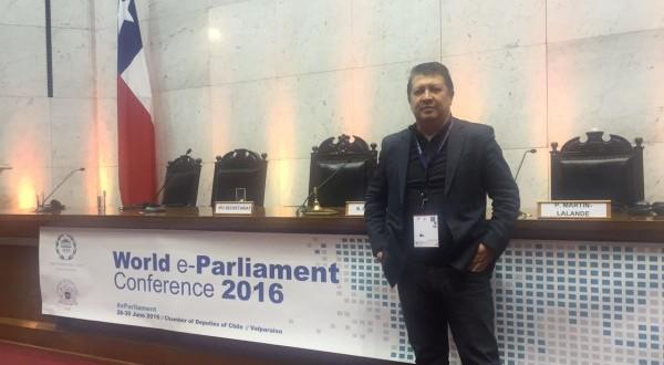 Deputado Jefferson Campos participa de Conferência Mundial sobre o Parlamento Eletrônico, no Chile